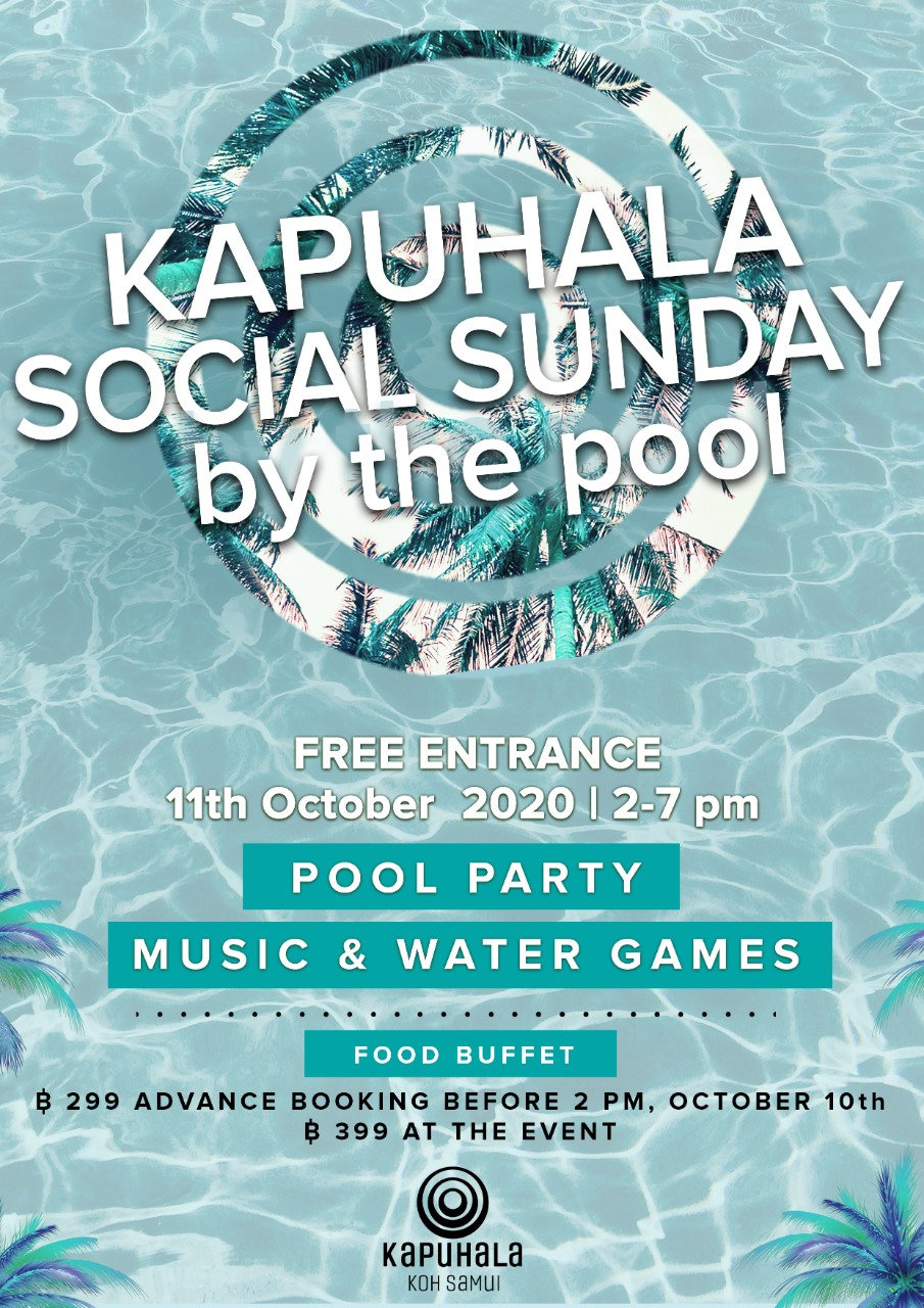 Social Sunday by the pool